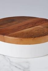 White Round Mod Block, Medium