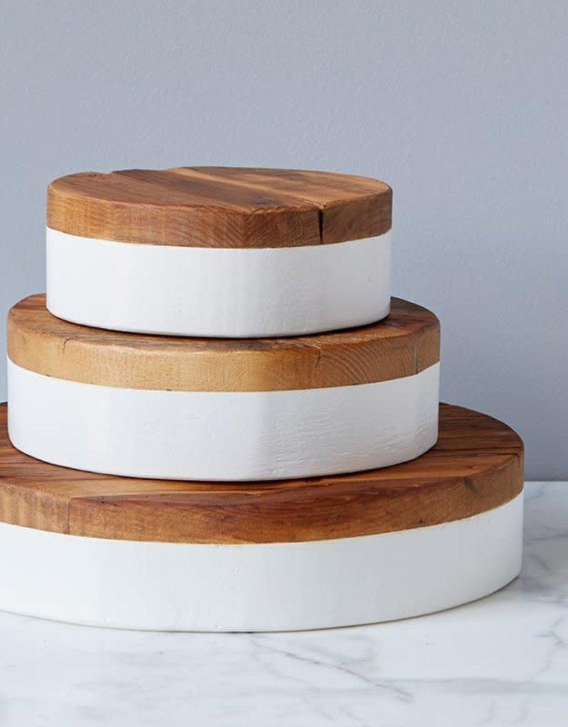 White Round Mod Block, Large