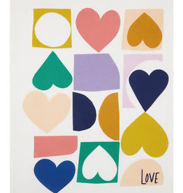 Love Hearts Cotton Tea Towel
