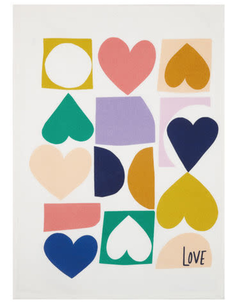 """Love Hearts Tea Towel - 18x25"""""""