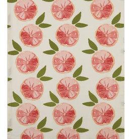 Grapefruit Cotton  Ruffled Tea Towel