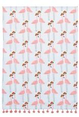 "Pink Flamingo Tea Towel - 18x25"""