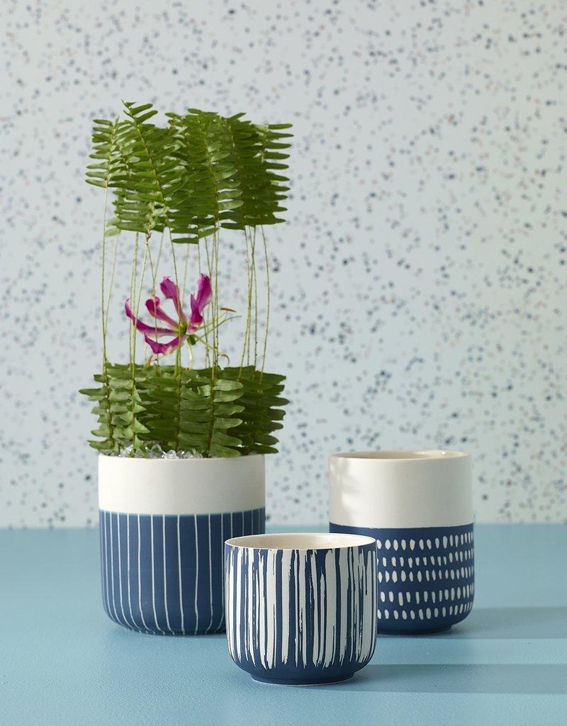 Westview Blue Striped Pot