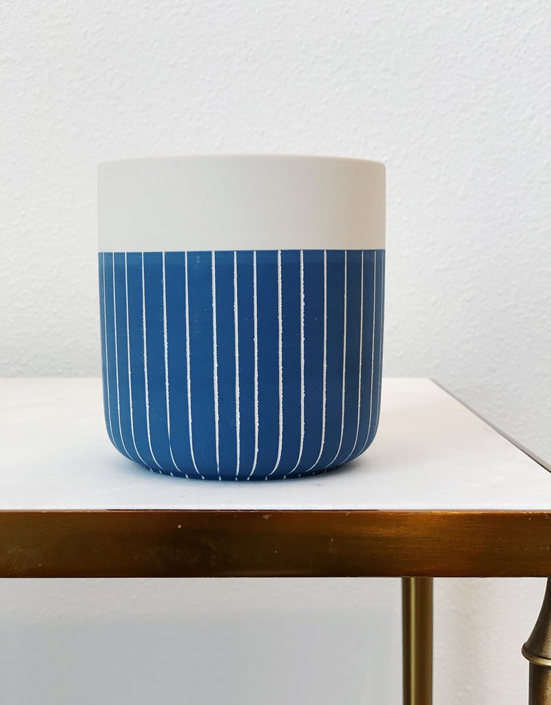 Westview Striped Pot 4.75x5""