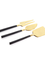 Maxfield Cheese Set - Black / Matte Gold