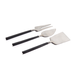 Maxfield Cheese Set - Black / Matte Silver
