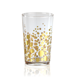 Dot Design Tealight Holder - Gold