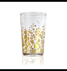 Dot Design Tealight Holder - Gold