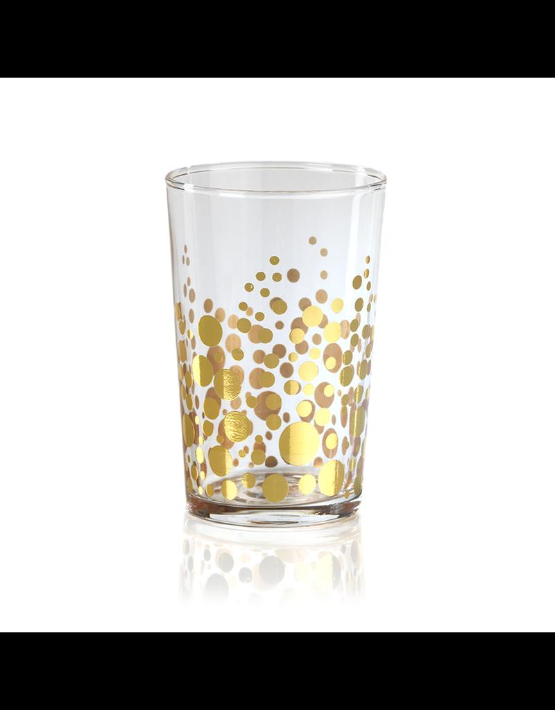 Gold Dot Design Tealight Holder