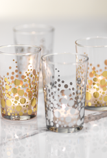 Silver Dot Design Tealight Holder