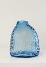 Ocean Blue Clearwater Glass Vase
