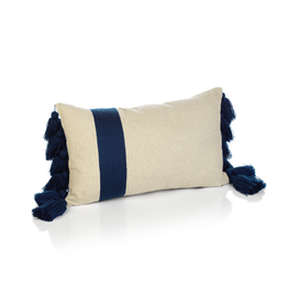 Polignano Embroidered Throw Pillow with Tassels