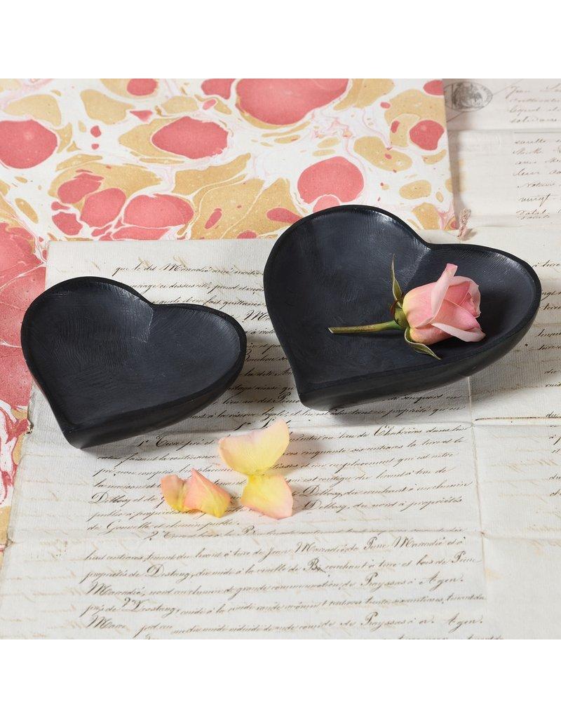 Large Black Soapstone Heart Bowl