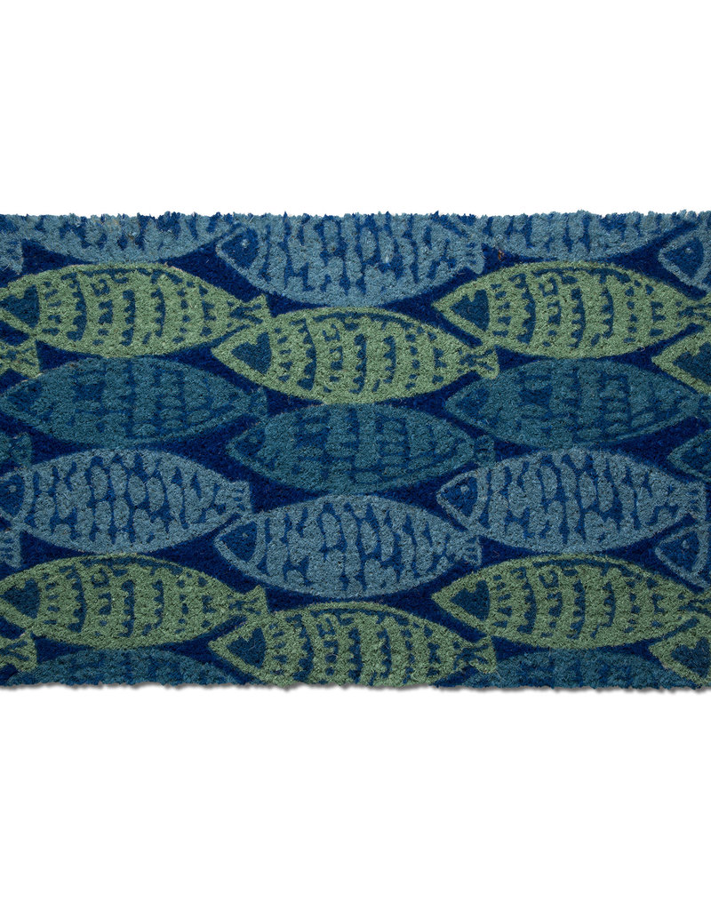 Blue Fish Coir Doormat