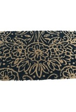Natural Floral Coir Doormat