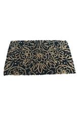 Natural Floral Coir Doormat