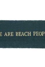 We Are Beach People Coir Doormat