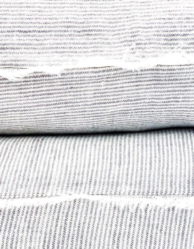 Skye Linen Pillow - Grey Stripe