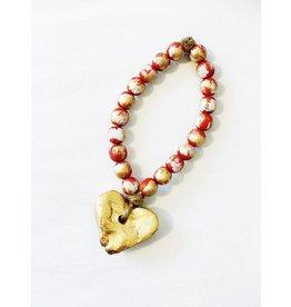 Blessing Bead Heart Ornament