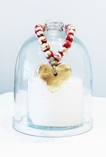 Wood Blessing Bead Heart Ornament