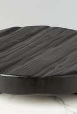 Black Round Wood Trivet - Small