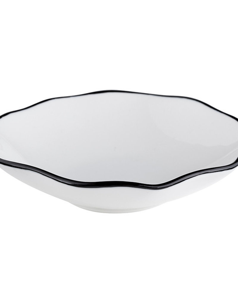 Small Ceramic Bowl with Black Edge