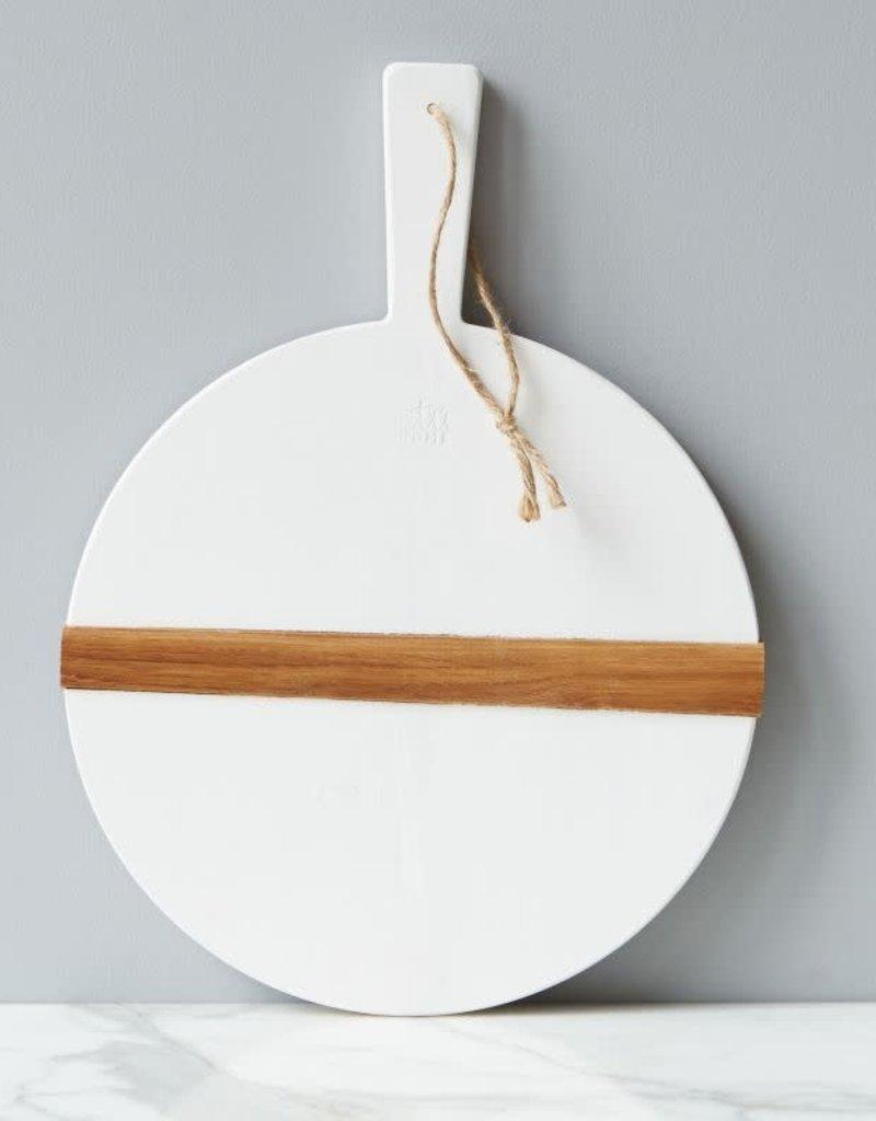 Small White Round Mod Charcuterie Board