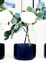 Medium Ava Navy Blue Mason Jar