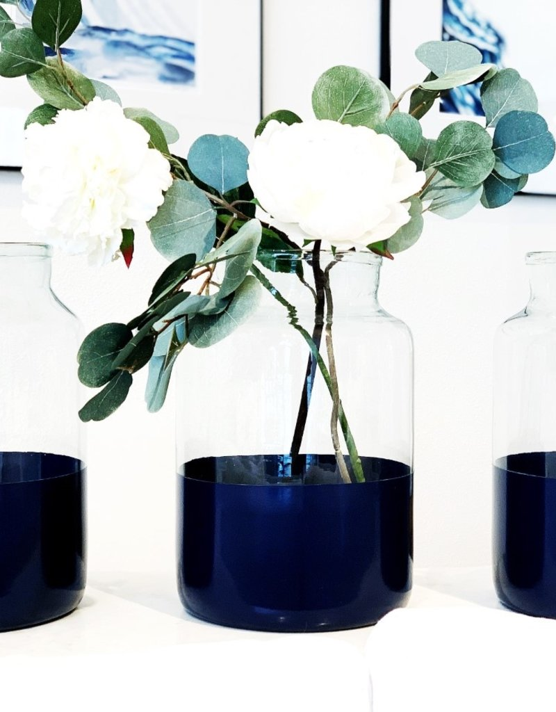 Ava Navy  Mason Jar - Medium