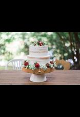 Large White Mod Block Cake Stand