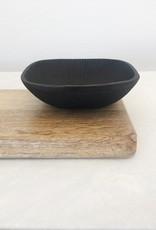 Square Ornate Cast Iron Bowl