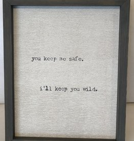 You Keep Me Safe -Word Board