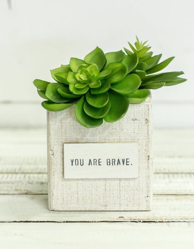 Small White Nesting Box-You are Brave