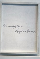 Word Board-How Wonderful Life Is