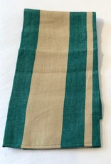 Waikiki Linen Green Striped Tea Towel