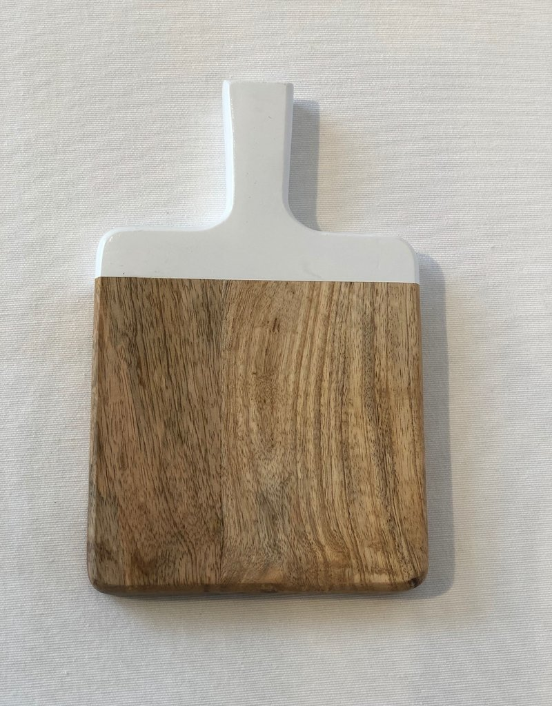 Small Cutting Board with White Handle
