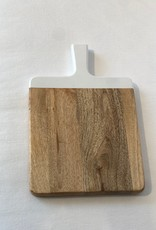 Large Cutting Board with White Handle