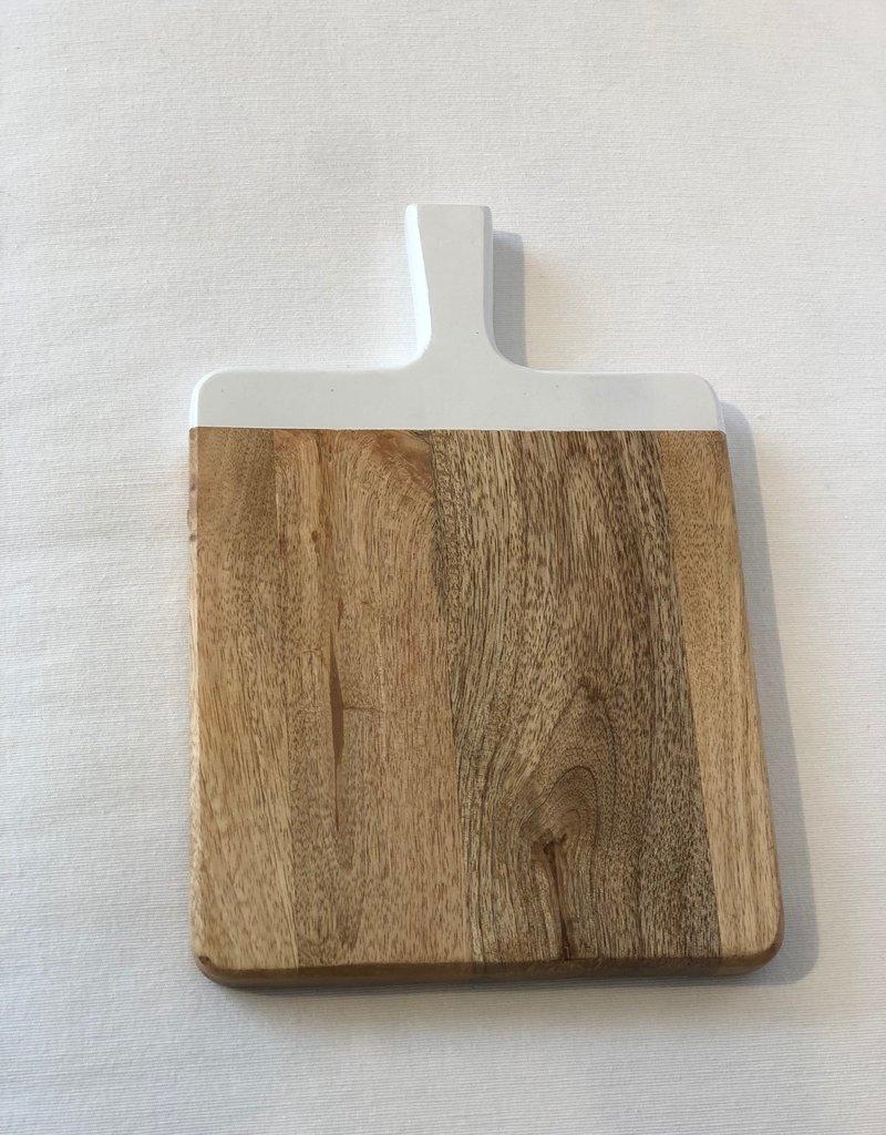 Cutting Board w / White Handle - Large