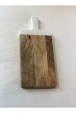 Long Cutting Board with White Handle