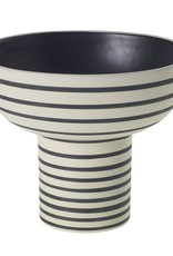 Black and White Sara Compote Vase