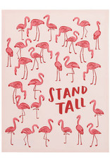Pink Flamingo Stand Tall Towel