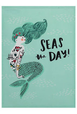 Aqua Seas The Day Tea Towel