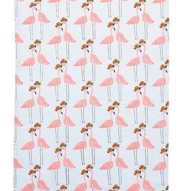 Pink Flamingo Cotton Tea Towel