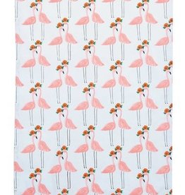Pink Flamingo Tea Towel