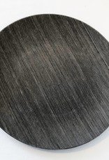 Dark Grey Faux Wood Charger Plate