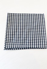 Navy Blue and White Gingham Napkin