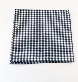 Navy Gingham Napkin