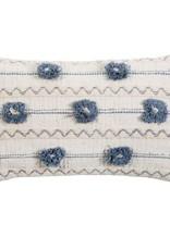 Ivory Handwoven Pom Pom Pillow