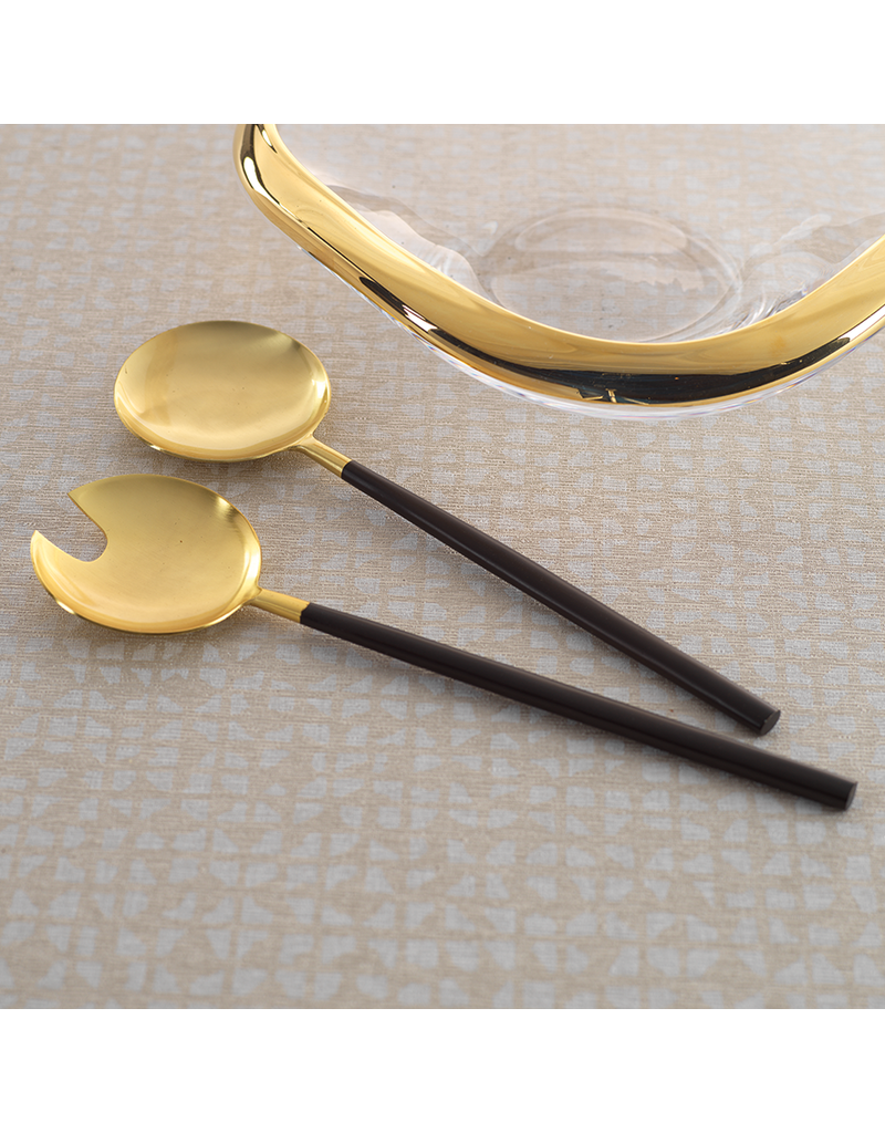 Black and Gold Maxfield Serving Set