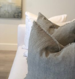 Belgian Linen Pillow - Flint Gray